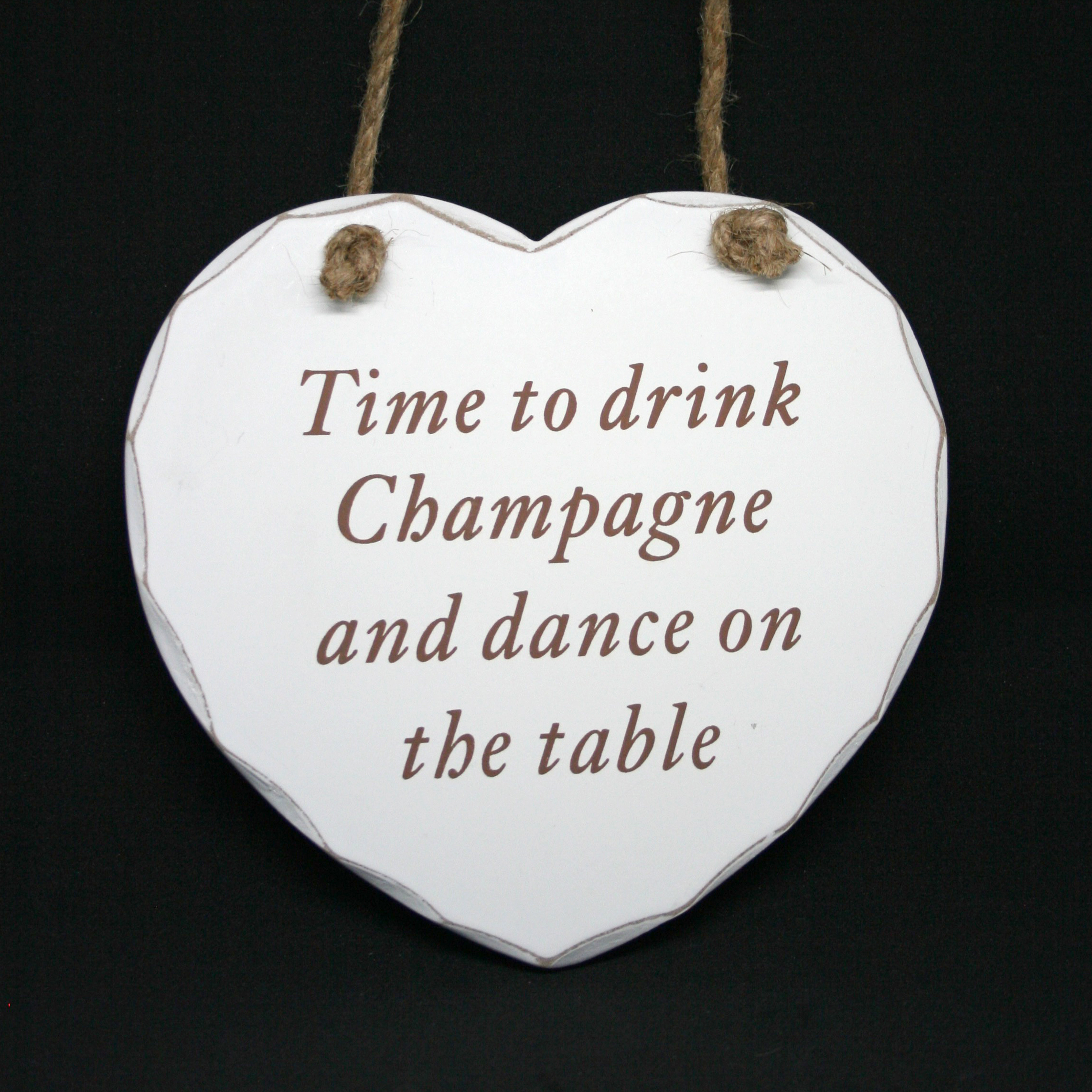 Heart Decoration Time to Drink Champagne 2